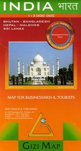Gizi Map - India, Bhutan - Bangladesh - Nepal - Maldives - Sri Lanka - 1/3 000 000.