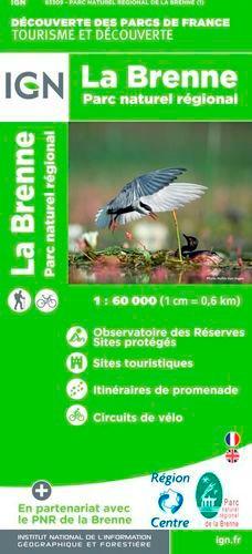 IGN - La Brenne, parc naturel régional - 1/60 000.