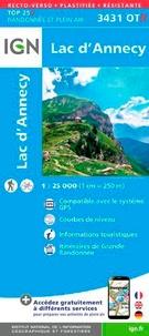 IGN - Lac d'Annecy - 1/25 000, plastifiée-résistante.
