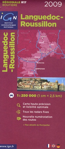 IGN - Languedoc-Roussillon - 1/250 000.