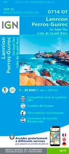 IGN - Lannion Perros-Guirec Les Sept Iles Côte de granit rose - 1/25 000.