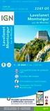 IGN - Lavelanet, Montségur, Lac de Montbel - 1/25 000.