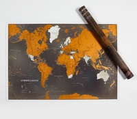 Craenen - Le monde à gratter - Display carte du monde à gratter black edition (4 ex).