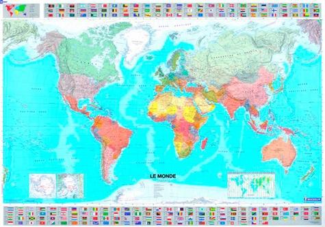 Michelin - Le monde - Carte plastifiée 1/28 500 000.