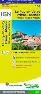 IGN - Le-Puy-en-Velay, Privas, Mende, PNR des Monts d'Ardèche - 1/100 000.