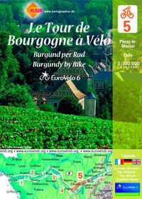 Huber Verlag - Le Tour de Bourgogne - Paray-le-Monial-Dole, 1/100 000.