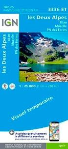 IGN - Les Deux Alpes, Olan Muzelle, Parc national des Ecrins - 1/25 000.