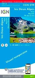 IGN - Les Deux Alpes, Olan-Muzelle, PN des Ecrins - 1/25 000, plastifiée-résistante.