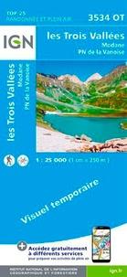 IGN - Les Trois Vallées, Modane, Parc national de la Vanoise - 1/25 000.