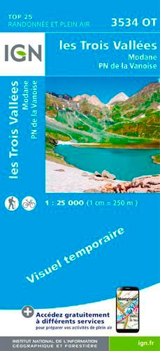 Les Trois Vallées, Modane, Parc national de la Vanoise. 1/25 000