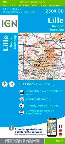 Lille Roubaix Tourcoing. 1/25 000