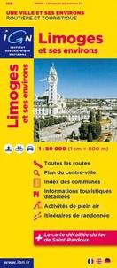IGN - Limoges et ses environs - 1/80 000.