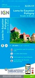 IGN - Lons-le-Saunier, Poligny - Reculée de Baume : 1/25 000.