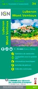 IGN - Lubéron, Mont Ventoux - 1/75 000.