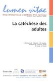 Joël Molinario et Denis Villepelet - Lumen Vitae Volume 63 N° 4, 2008 : La catéchèse des adultes.