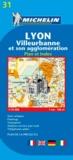 Michelin - Lyon, Villeurbanne et son agglomération - Plan et index, 1/10 000.