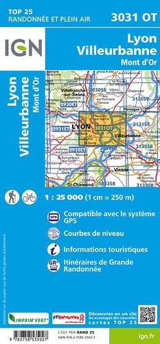 Lyon Villeurbanne Mont d'Or. 1/25 000