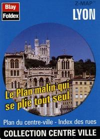 Blay-Foldex - Lyon - Plan du centre-ville, index des rues.