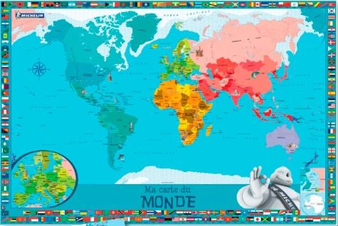 Michelin - Ma carte du monde - Avec une planche de stickers repositionnables.