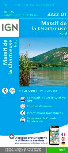 IGN - Massif de la Chartreuse Nord - 1/25 000.