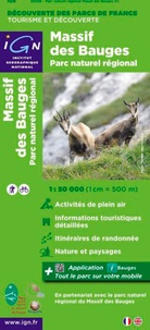 IGN - Massif des Bauges, parc naturel régional - 1/50 000.
