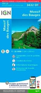 IGN - Massif des Bauges - 1/25 000.
