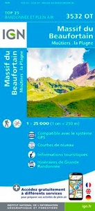 IGN - Massif du Beaufortain Moûtiers La Plagne - 1/25 000.