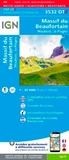 IGN - Massif du Beaufortain Moutiers La Plagne - 1/25 000, plastifiée, résistante.