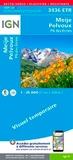 IGN - Meije, Pelvoux, Parc national des Ecrins - 1/25 000.
