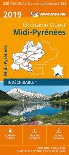 Michelin - Midi-Pyrenées, Occitanie Ouest - 1/200 000 - indéchirable.