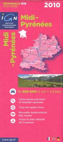 IGN - Midi-Pyrénées - 1/250000.