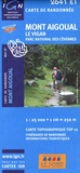 IGN - Mont Aigoual Le Vigan Parc national des Cévennes - 1/25 000.