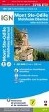 IGN - Mont Sainte-Odile, Molsheim, Obernai, vallée de la Bruche - 1/25 000.