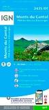 IGN - Monts du Cantal, PNR des volcans d'Auvergne - 1/25 000.