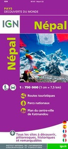 IGN - Népal - 1/750 000.