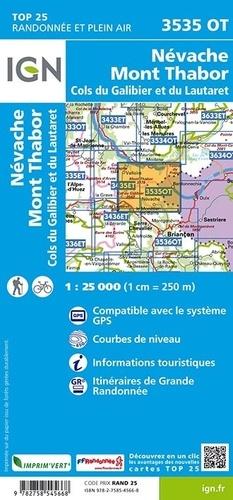 Névache, Mont Thabor, Cols du Galibier et du Lautaret. 1/25 000