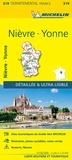 Micheli - Nièvre, Yonne - 1/150 000.