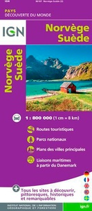 IGN - Norvège, Suède - 1/800 000.