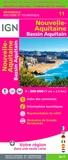 IGN - Nouvelle-Aquitaine, Bassin Aquitain - 1/250 000.