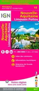 IGN - Nouvelle-Aquitaine. Limousin, Poitou - 1/250 000.