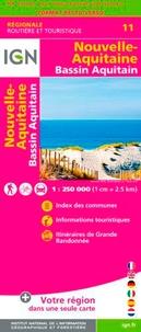 IGN - Nouvelle-Aquitaine. Bassin Aquitain - 1/250 000.