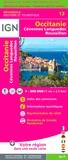 IGN - Occitanie, Cévennes-Languedoc-Roussillon - 1/250 000.
