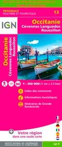 IGN - Occitanie, Cévennes, Languedoc-Roussillon - 1/250 000.
