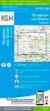 IGN - Oradour-sur-Glane, Brigueuil - 1/25 000.