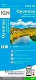 IGN - Oyonnax, Gorges de L'Ain, PNR du Haut Jura - 1/25 000.