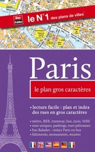 Blay-Foldex - Paris - Le plan gros caractères.