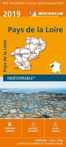 Michelin - Pays de la Loire - 1/200 000 - indéchirable.