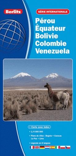 Berlitz - Pérou Equateur Bolivie Colombie Venezuela - 1/4 000 000.