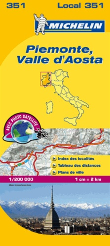 Michelin - Piemonte, Valle d'Aosta - 1/200 000.