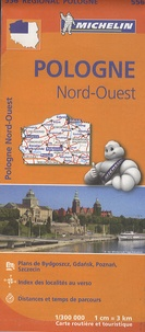 Michelin - Pologne Nord-Ouest - 1/300 000.